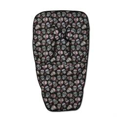 Chair mat Lovely Black Skull