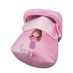 Sack Grupo 0 Raincoat with hood and covers Harness Beauty Girl