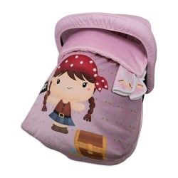 Sack Grupo 0 Raincoat with hood and covers Harness Pretty Pirate