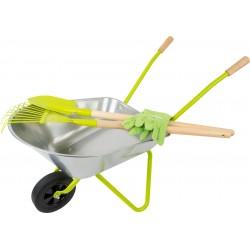 Wheelbarrow with Garden Tools