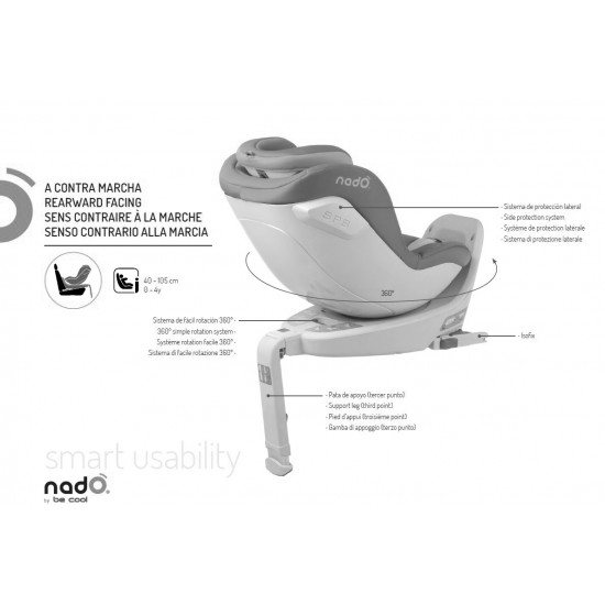 Carseat i-size ñado group 0 + / i be cool black isofix
