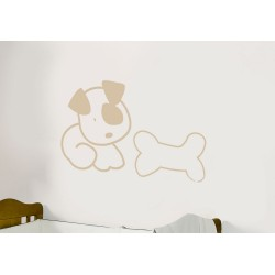 Decorative vinyl dog and bone Series Model 24