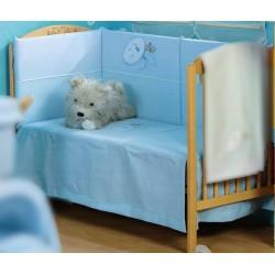 70 * 140 crib bedding blue button