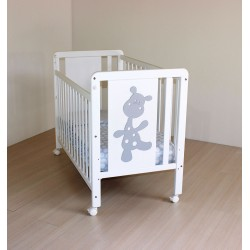 White crib structure giraffe