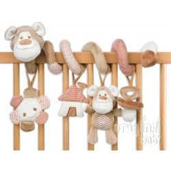 Teddy beige spiral rattles