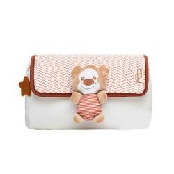 Baby bear cosmetic bag beige