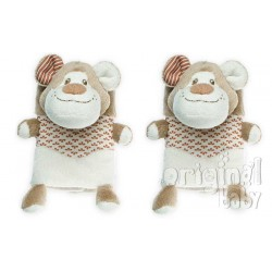 Safety Belt protects beige teddy