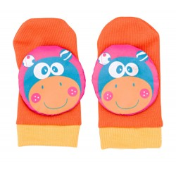 3D mouse rattle orange sock SARO