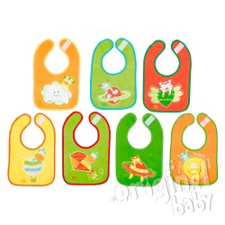 Set 7 days bibs with Velcro (colorful background)