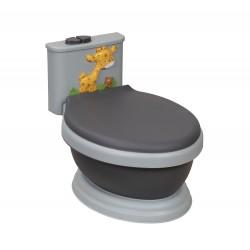 Orinal Musical WC Jirafa Negro-Gris