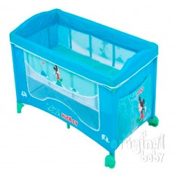 Mickey Mouse travel cot with elevator