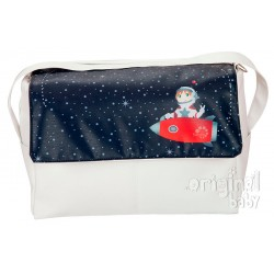 Astronaut leather bag