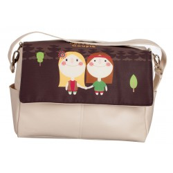 Hippies leather bag Choco