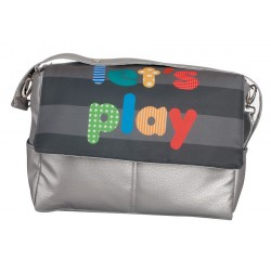 Leather bag Let's Play Azul