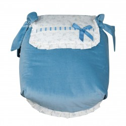 Autumn Blue Bedspread Carrycot