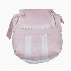 Classic car bassinet pink baby quilt